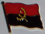 Angola Country Flag Enamel Pin Badge